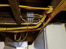 After a completed electrician project in the area